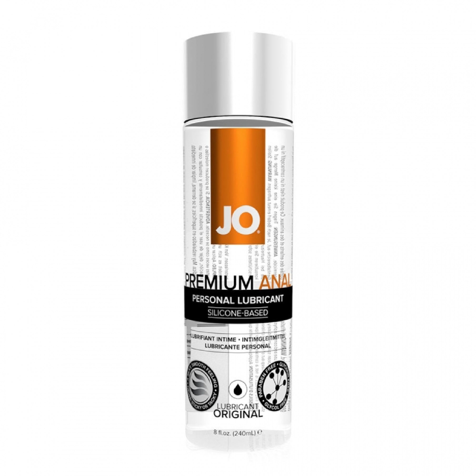 System Jo Silicone Based Anal Original Lubricant (Eight Ounces) - Gläs