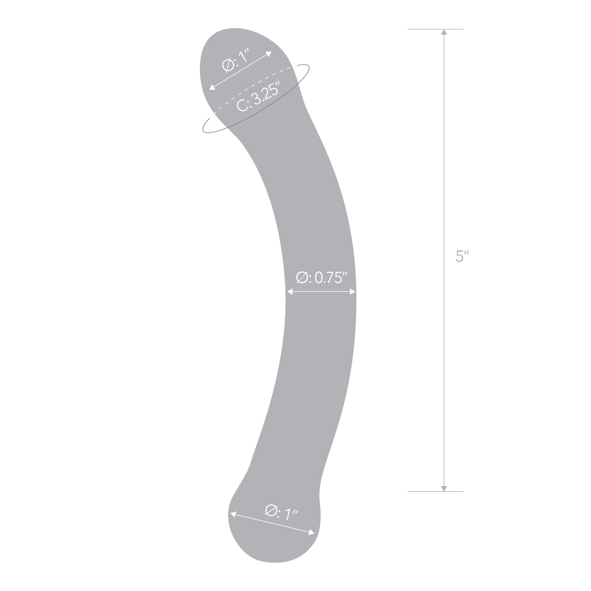 Specifications of the Gläs 6 inch Curved G-spot Blue Glass Dildo