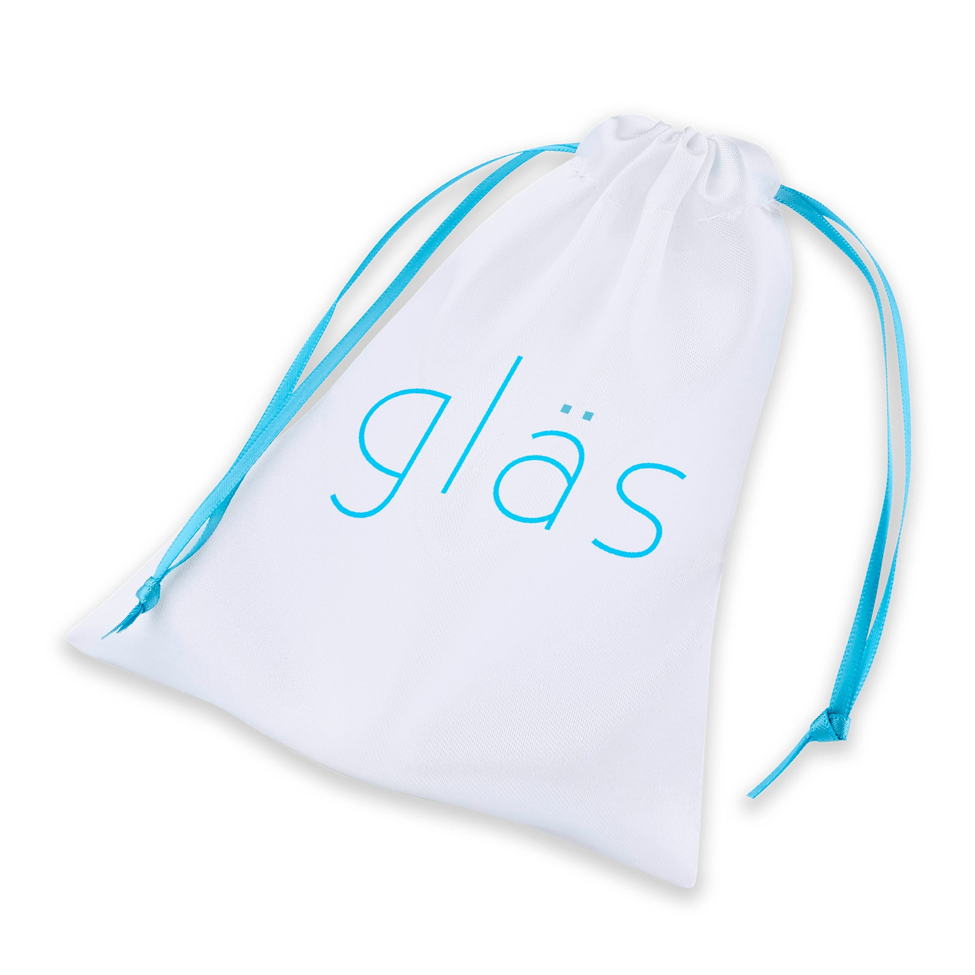 Storage Pouch of the Gläs 5 inch Curved Glass Beaded Dildo