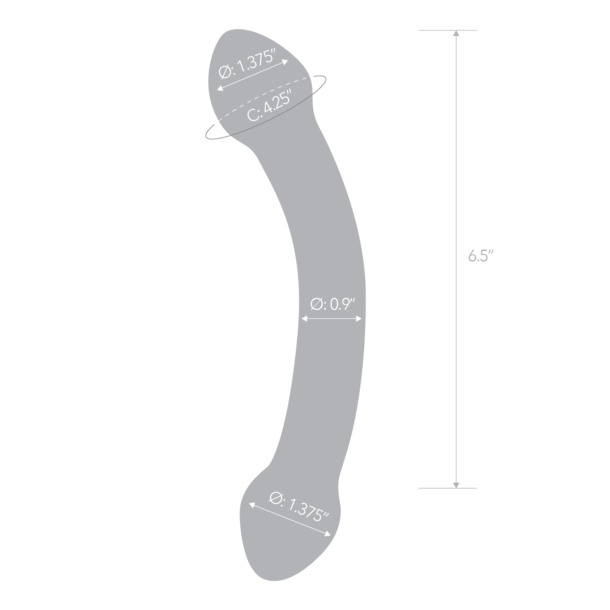 Specifications of the Gläs Double Trouble Purple Glass Dildo