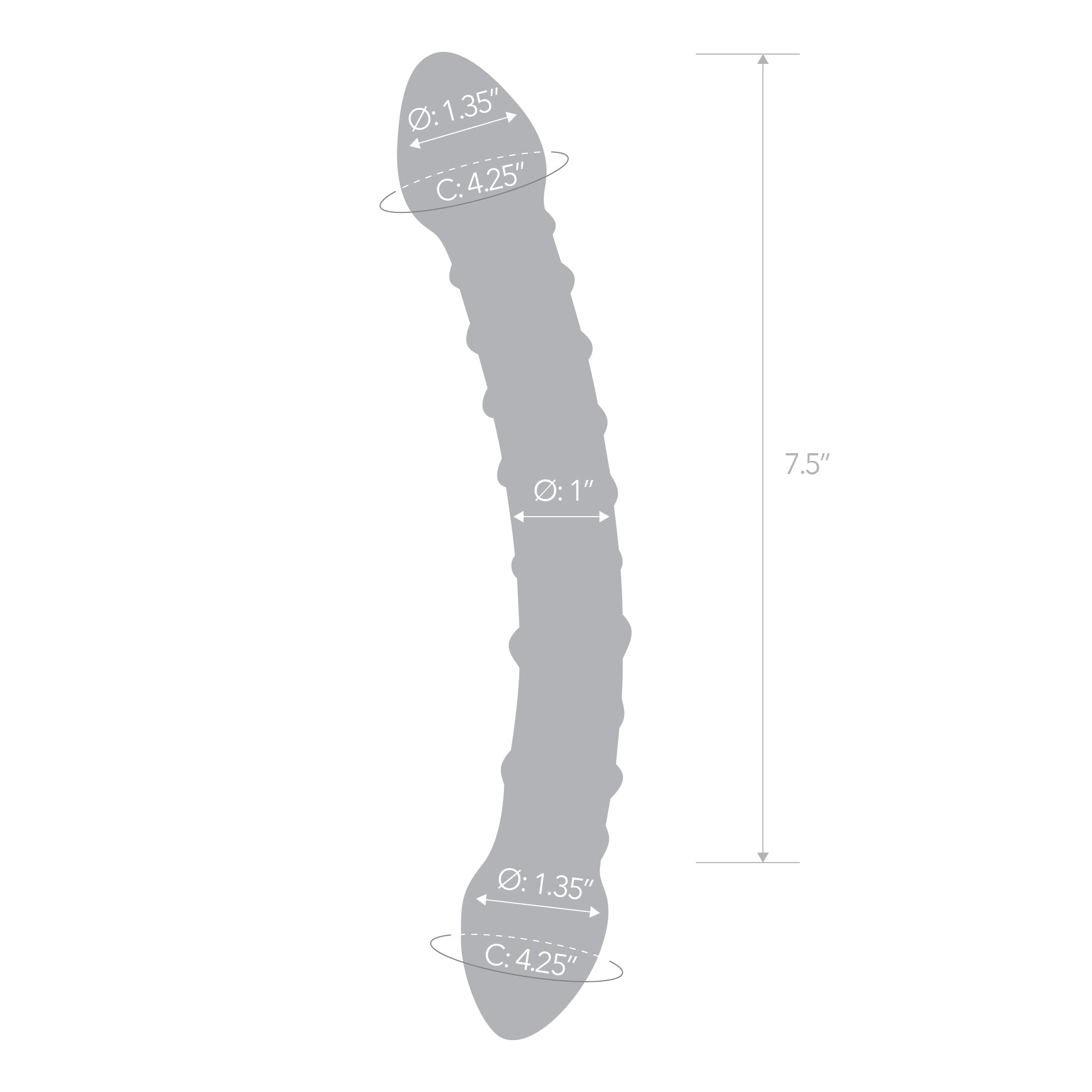 Specifications of the Gläs Double Trouble Glass Dildo