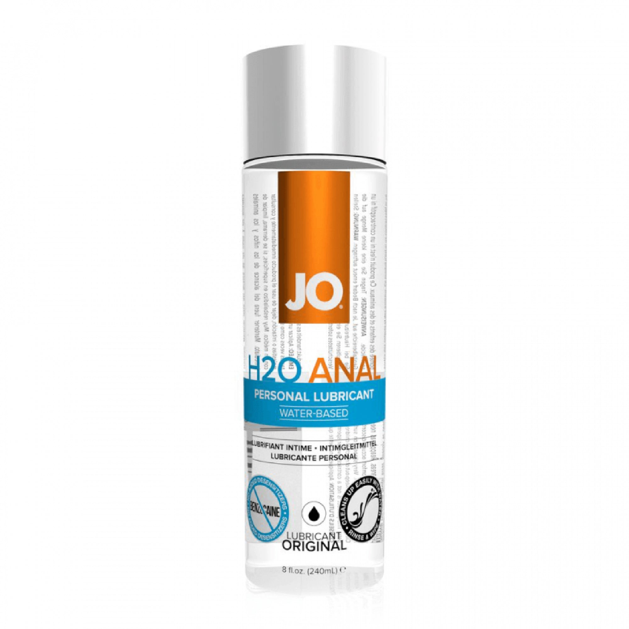 System Jo H2O Original Water-Based Anal Lubricant (Eight Ounces) - Gläs