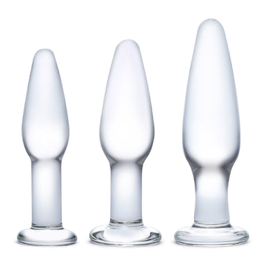 Three Piece Glass Butt Plugs Gläs Glass Anal Training Set