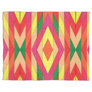 """Diamonds and Stripes"" Georgette Silk Scarf"