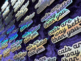 Cats Are Way Better Than You | Holographic Sticker
