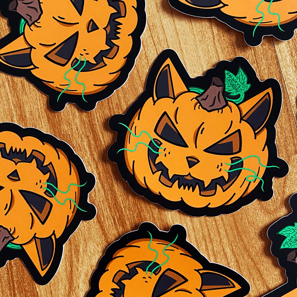 Cat-o-Lantern | Sticker