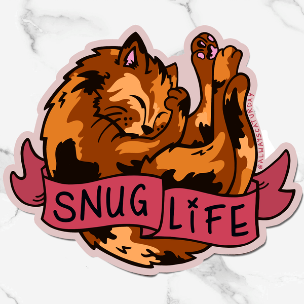 Snug Life Tortie Cat | Sticker
