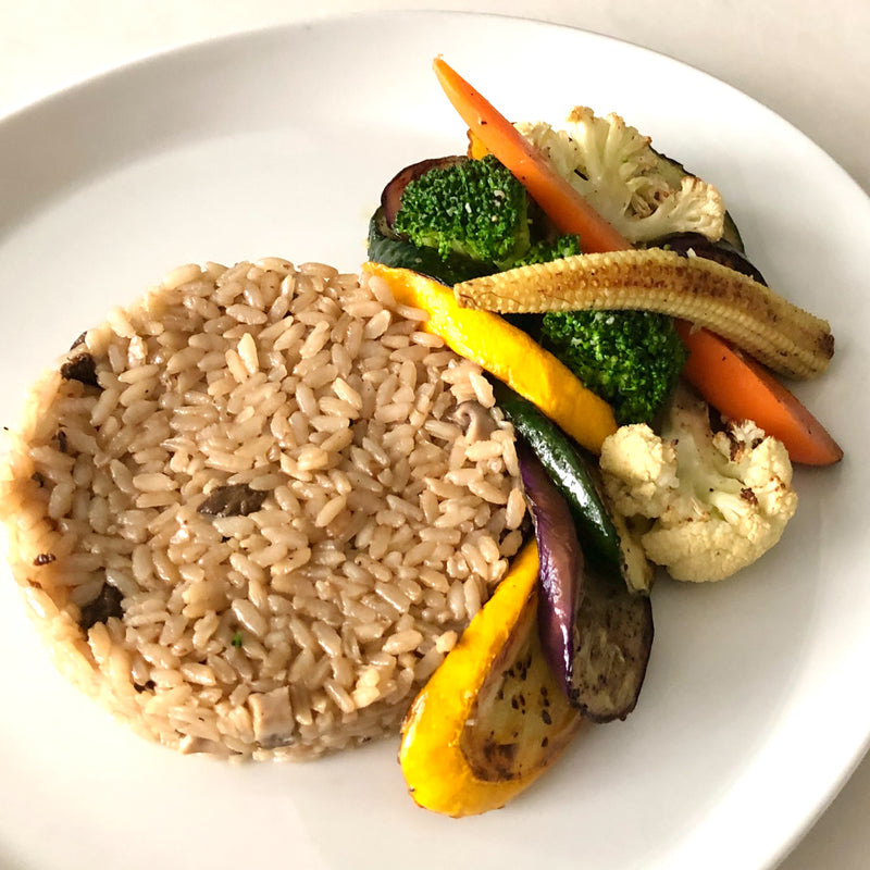 Assorted Mushroom Rice | Baked and served with grilled vegetables