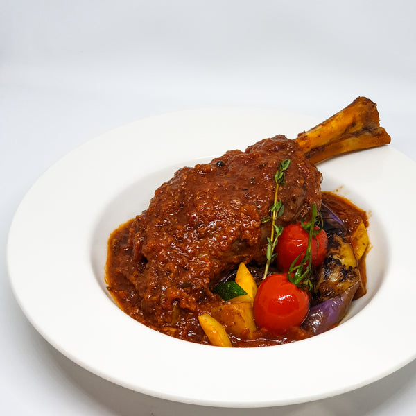 Lamb Shank | Baked with tomatoes and red wine
