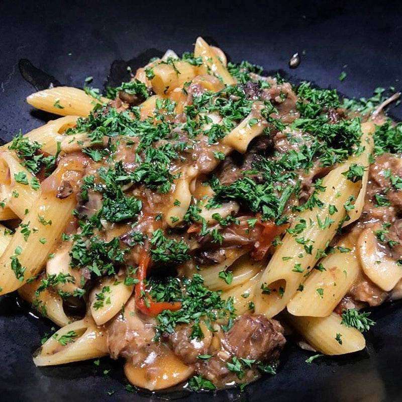 Pulled Oxtail Pasta | Sautéed with mushroom, tomatoes