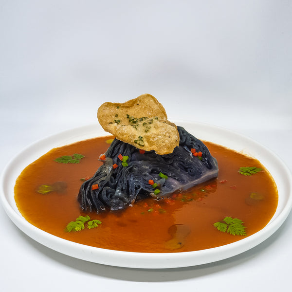 Braised Purple Cabbage | Prawn Bisque ∙ Cognac