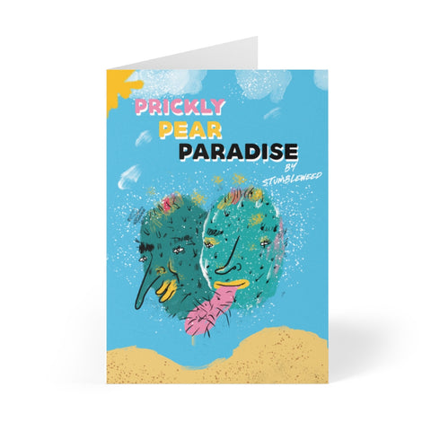 """Prickly Pear Paradise"" - Made by Stumbleweed - E. Mendoza - Greeting Cards (8 pcs)"