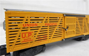 American Flyer 24076 Union Pacific Cattle Stock Car BOXED and CLEAN! postwar KNUCKLE