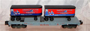 BOXED American Flyer Trains 956 Monon Piggyback FlatCar w/Trailers 1957 Painted