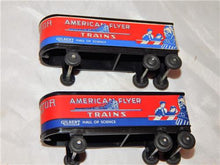 Load image into Gallery viewer, BOXED American Flyer Trains 956 Monon Piggyback FlatCar w/Trailers 1957 Painted