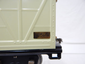 Lionel Trains 514R Standard gauge Ventilated Refrigerator Car Ivory/Blue Prewar Professional Repaint