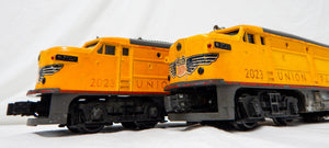 Lionel 2023 Union Pacific AA Alco set Yellow Serviced & Running diesels 1950 O