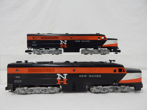 American Flyer 494 495 New Haven ALCO PA Diesel Locos set 1956 S Gauge AA CLEAN!