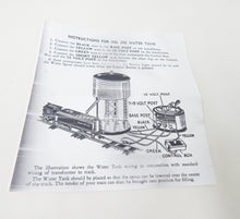 Load image into Gallery viewer, American Flyer #596 Automatic Water Tower w/light Works +button S or O metal