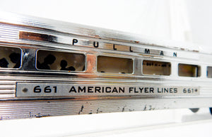 1952 American Flyer CHROME 661 Pullman Streamlined Passenger Car Coach Link coup