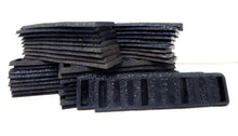 Load image into Gallery viewer, Johnson's rubber roadbed WIDE TIE Straight Black 38 pieces American Flyer 726 S