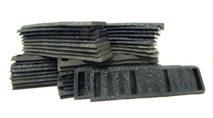 Johnson's rubber roadbed WIDE TIE Straight Black 38 pieces American Flyer 726 S