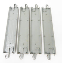 "Load image into Gallery viewer, Bachmann 44511 EZ-Track 4 pcs 9"" straight Nickel Silver gray roadbed HO bulk new"