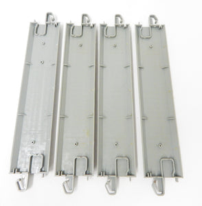 "Bachmann 44511 EZ-Track 4 pcs 9"" straight Nickel Silver gray roadbed HO bulk new"