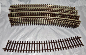 "Atlas O #7062 Lot of 16 Sections 36"" radius Complete Circle 2 Rail O Scale nickle silver"
