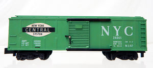 American Flyer 24065 NYC Green Painted Boxcar Pikemaster couplers New York Central