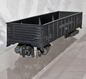 Postwar American Flyer 920 Southern gondola black 1953-56 Knuckle coupler paintd