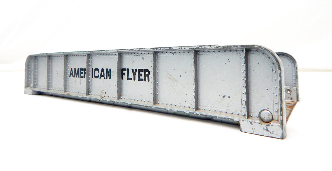 American Flyer 581 Silver Girder Bridge Metal Vintage Postwar S accessory 10x5