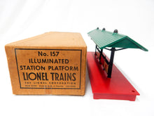 Load image into Gallery viewer, Lionel Trains 157 Postwar RED BASE Illuminated Station Platform CLEAN & SCARCE