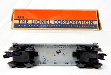 Load image into Gallery viewer, Boxed Lionel Trains 2411 Die Cast Flat w/ metal pipes BIG INCH 1946 Postwar O