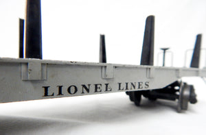 Boxed Lionel Trains 2411 Die Cast Flat w/ metal pipes BIG INCH 1946 Postwar O