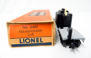 Lionel Trains 6461 transformer depressed center flatcar insulators 1949-50 BOXED