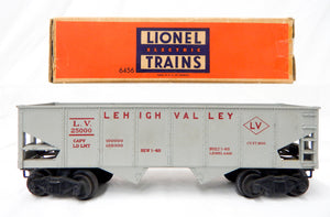 Clean Boxed Lionel 6456-25 GRAY Lehigh Valley hopper red maroon lettering 54-55