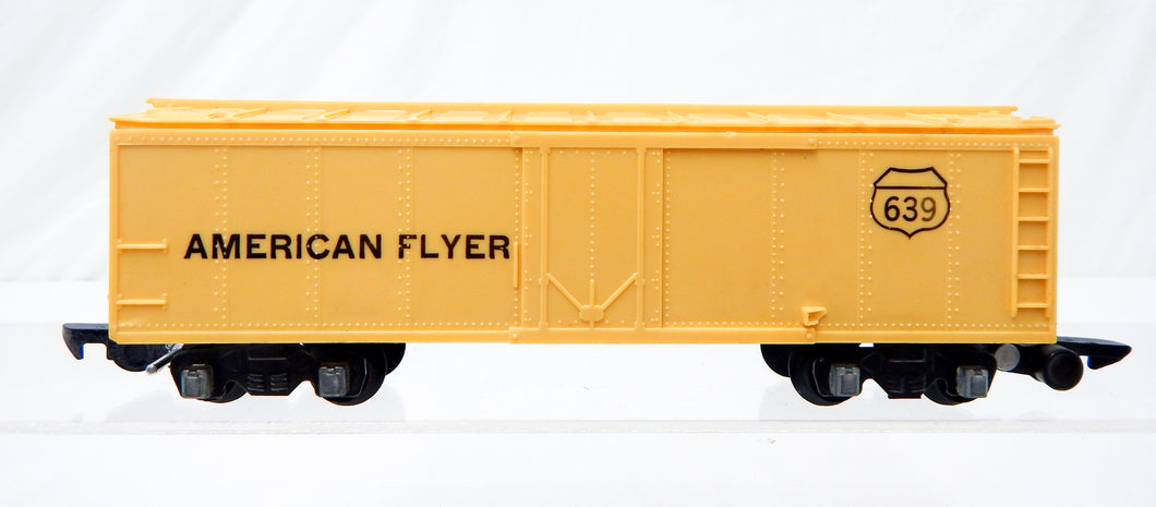 American Flyer 639 SCARCE! Unpainted CREAM reefer 1952 Link coupler refrigerator