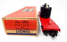 Load image into Gallery viewer, Original Lionel Trains 6818 Transformer flat car vintage flat w/load power 58-59