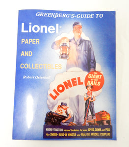 Greenberg Guide to Lionel Paper and Other Collectibles Paperback Signed by Author