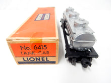 Load image into Gallery viewer, Lionel 6415 Sunoco 3 Dome Tank Car 1953-55 8000 gal diecast trucks vari D W/ Box