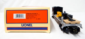 Lionel 6-26707 Lionel Steel Operating Welding Flat Car blue LED animated train O
