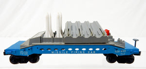 Lionel Trains Postwar 6544 Missile Firing Trail Car Military army Blue 8 missles
