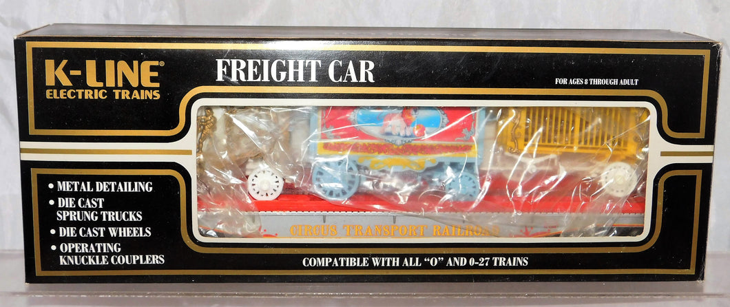 K-Line Trains Circus 69002 Flatcar With Calliope Tableau & Animal Cage 12.5