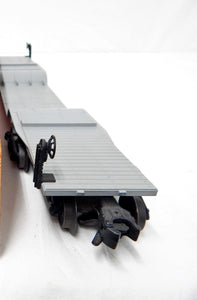 Lionel Trains 6518 depressed center flatcar w/ US Steel Girders Pinkish-Orange O
