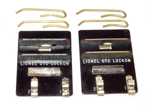 TWO Lionel OTC Lockons for O27 & O Gauge Track Sections Operating Track Control