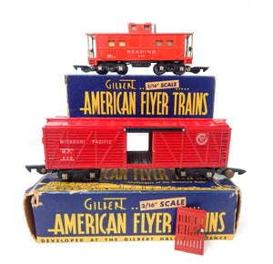CLEAN American Flyer 4611A New York Central Freight Train BOXED Set 322acHudson