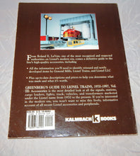 Load image into Gallery viewer, Greenberg's Guide Lionel Trains 1970-1997 Volume 3 : Accessories 10-8060 LaVoie
