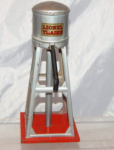 Vintage Lionel 93 Metal Water Tower Aluminum silver tinplate clean accessory tin