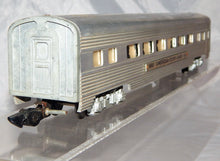 Load image into Gallery viewer, CLEAN American Flyer 661 Aluminum Coach Car Metal lighted 1950s Link streamlined